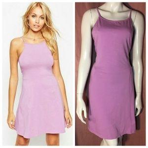 ASOS 90s Style Lilac Lavender Halter Skater Dress